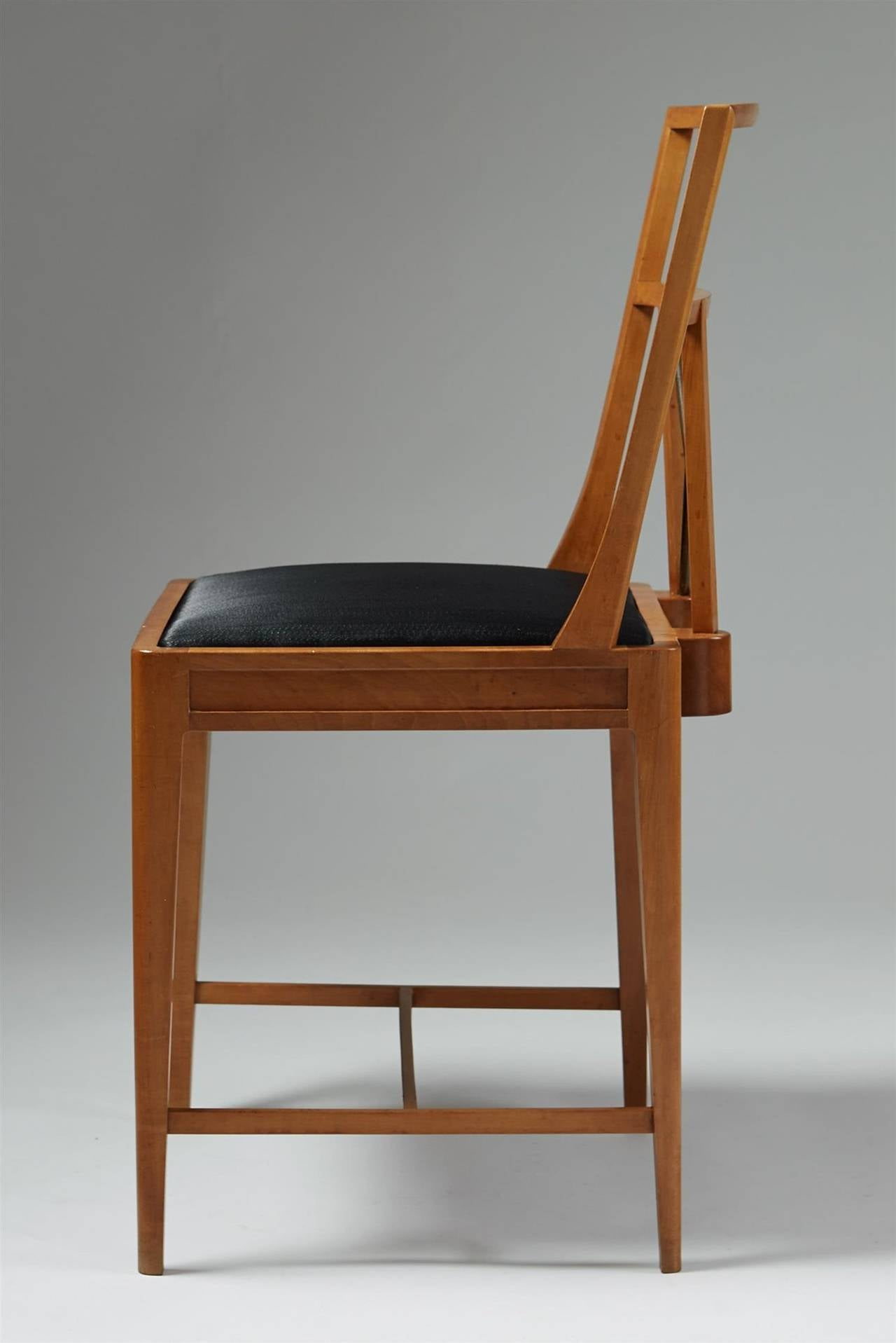 Chair Anonymous Denmark 1930s Pear Wood Brass And