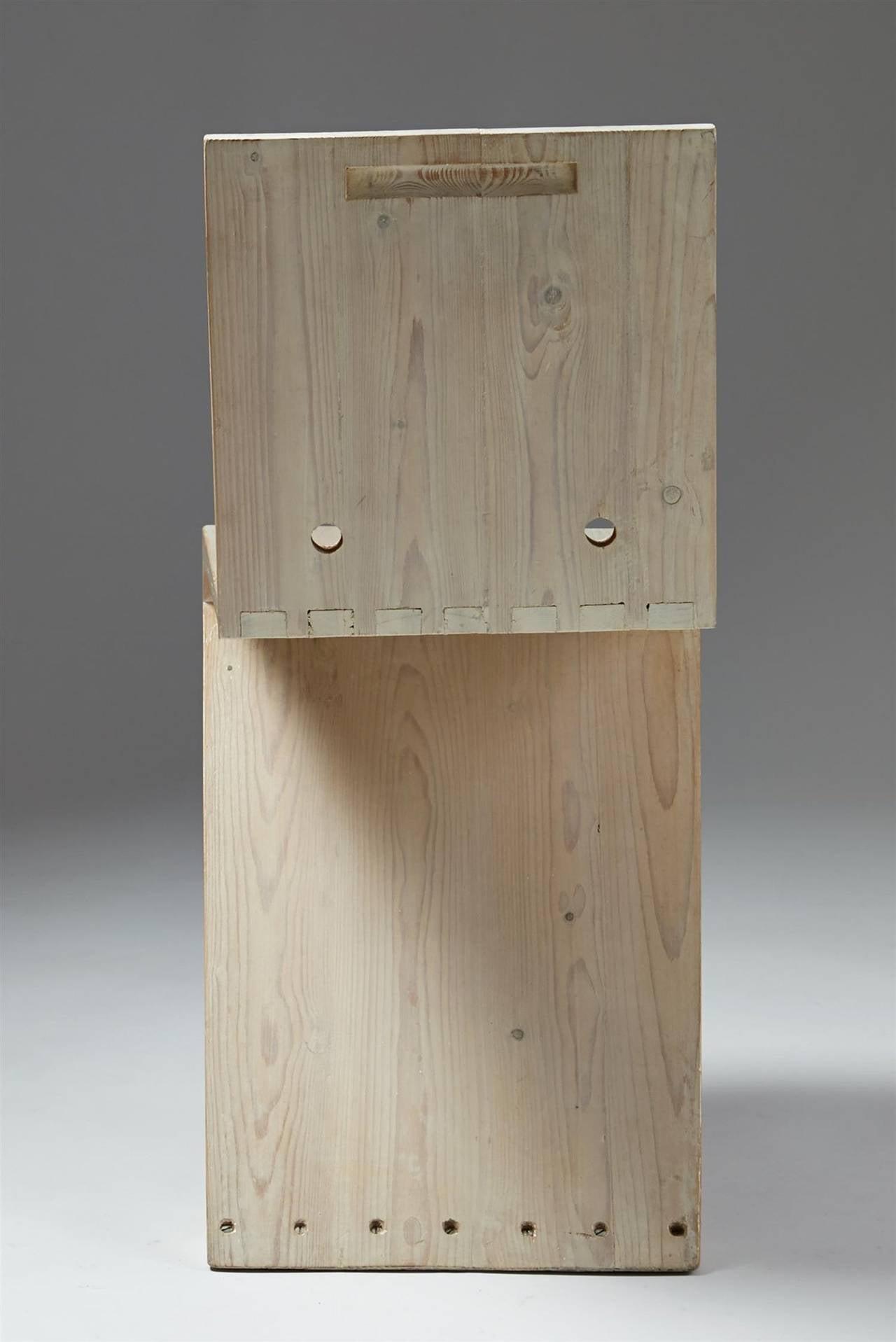 Dutch Zig Zag Chair Designed by Gerrit Rietveld for G.A. van de Groenekan, Holland