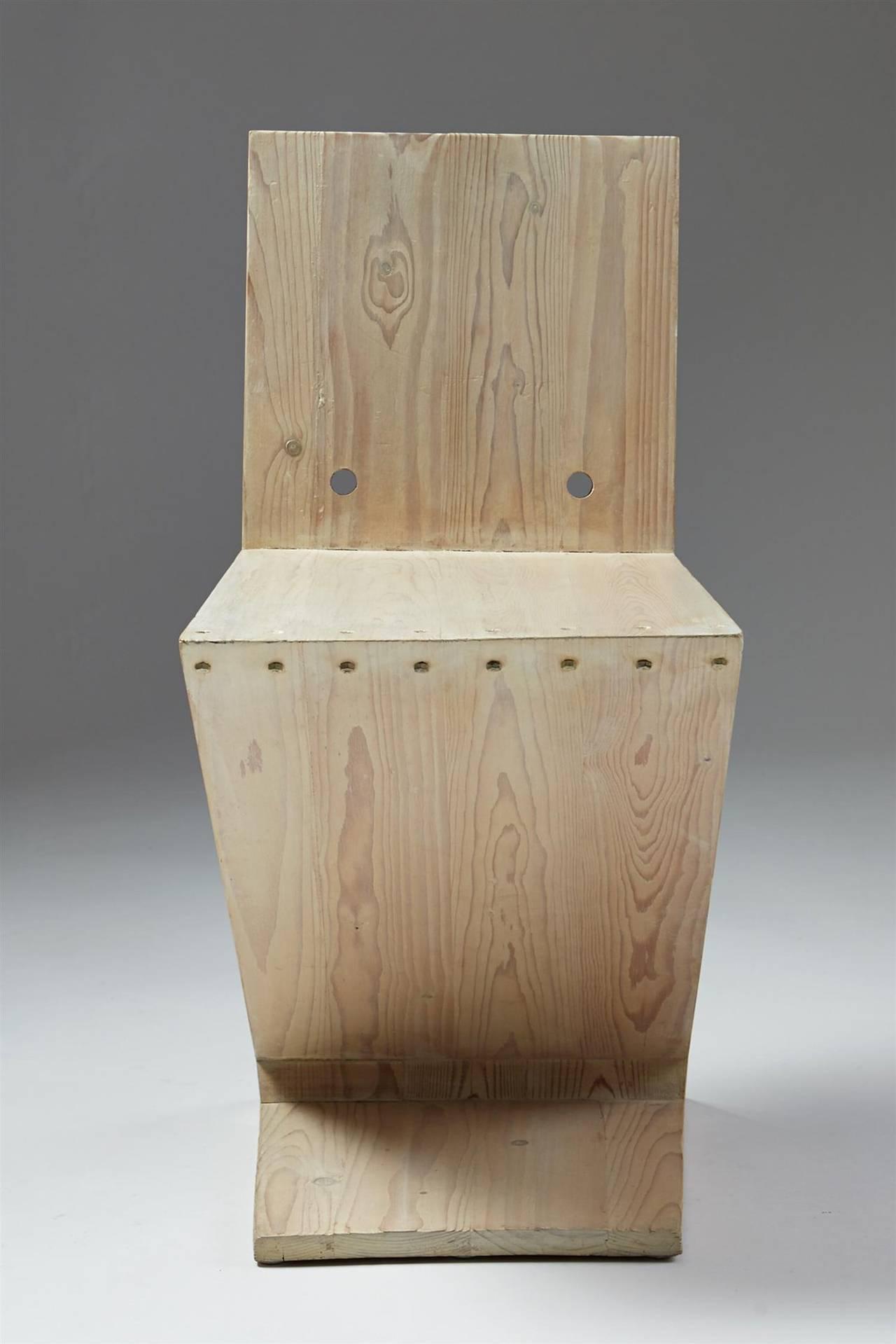 Mid-20th Century Zig Zag Chair Designed by Gerrit Rietveld for G.A. van de Groenekan, Holland