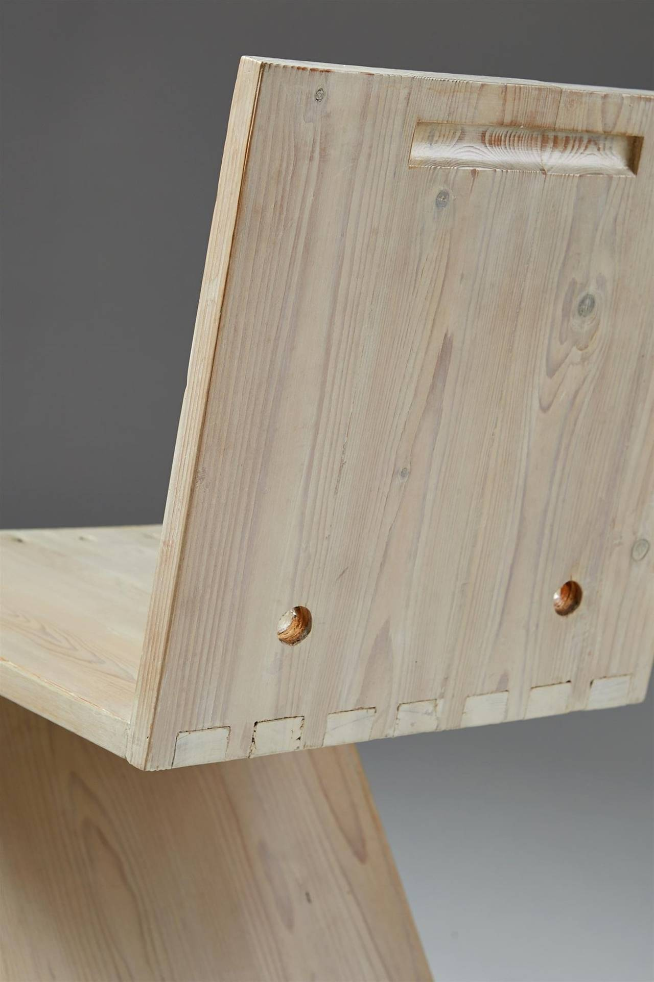 Zig Zag Chair Designed by Gerrit Rietveld for G.A. van de Groenekan, Holland 3