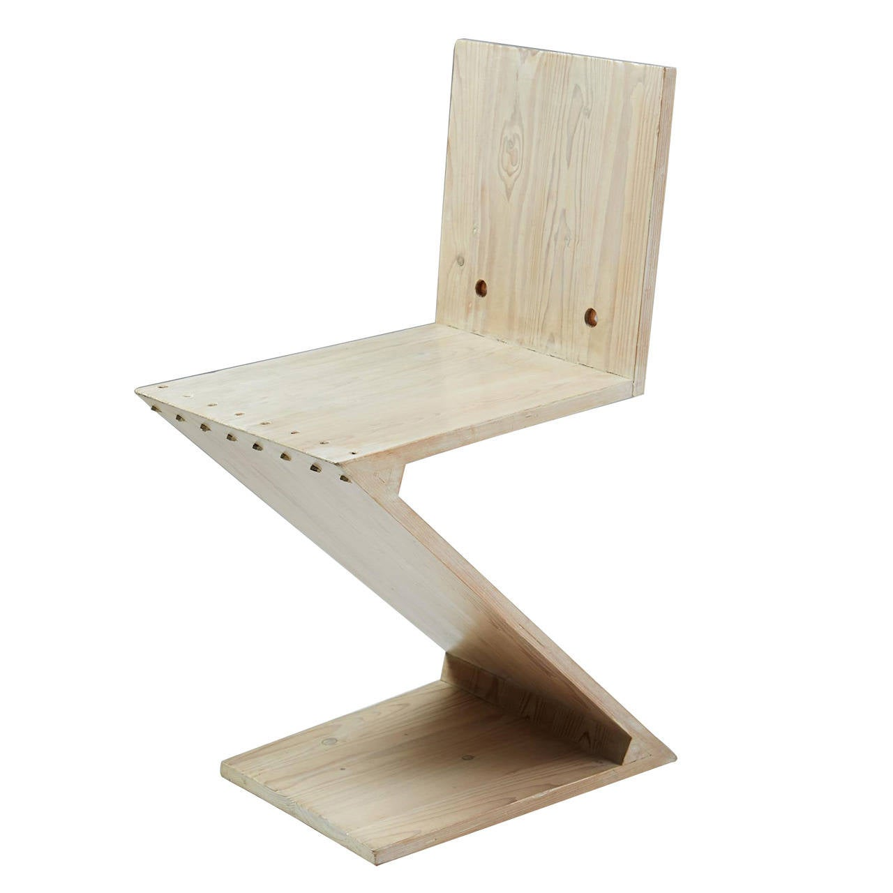 Zig Zag Chair Designed by Gerrit Rietveld for G.A. van de Groenekan, Holland