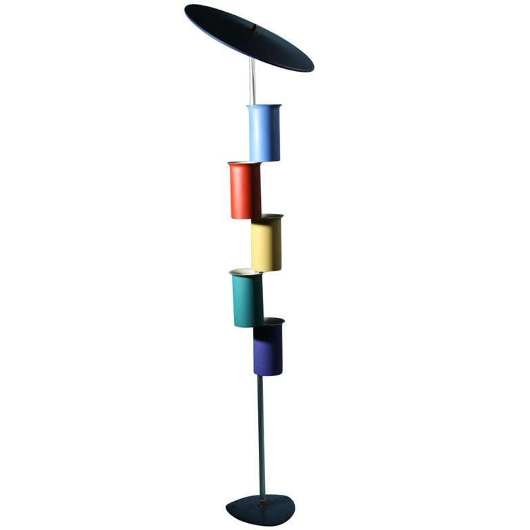 Floor Lamp, Attributed to Simon Henningsen, Denmark, 1950s