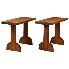 Console Tables Designed by Axel Einar Hjorth for NK, Sweden, 1932