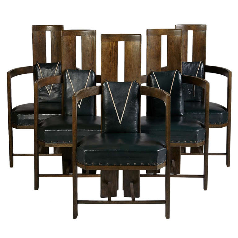 Set Of Dining Chairs Designed By Eliel Saarinen For