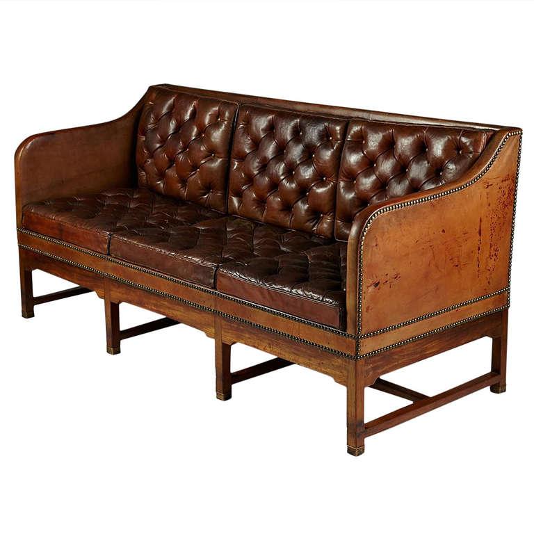 Sofa designed by Kaare Klint for CB Hansen Denmark 1928