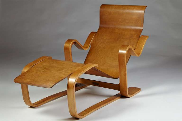 Long Chair, Designed by Marcel Breuer for Isokon, England, 1936 For Sale at 1...