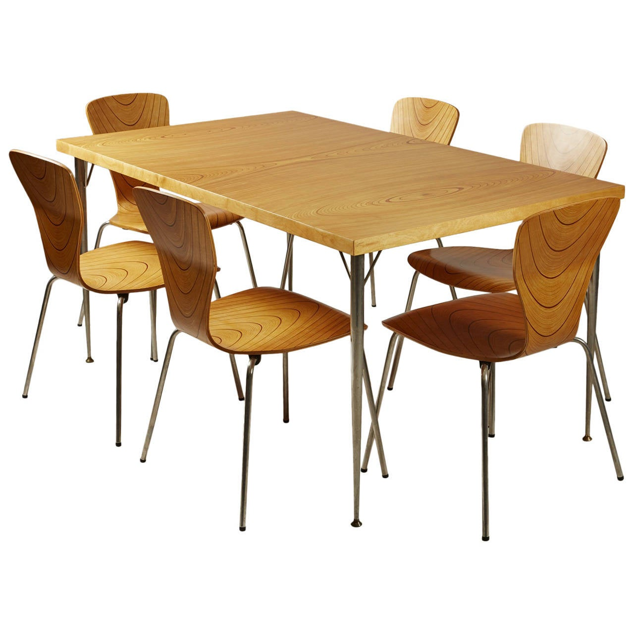 Dining set designed by tapio wirkkala for asko finland for Dining table dressing ideas