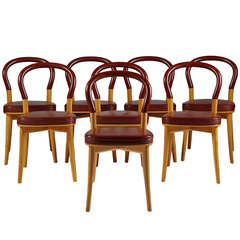 Set of Eight Chairs, Gothenburg, Designed by Gunnar Asplund for Cassina