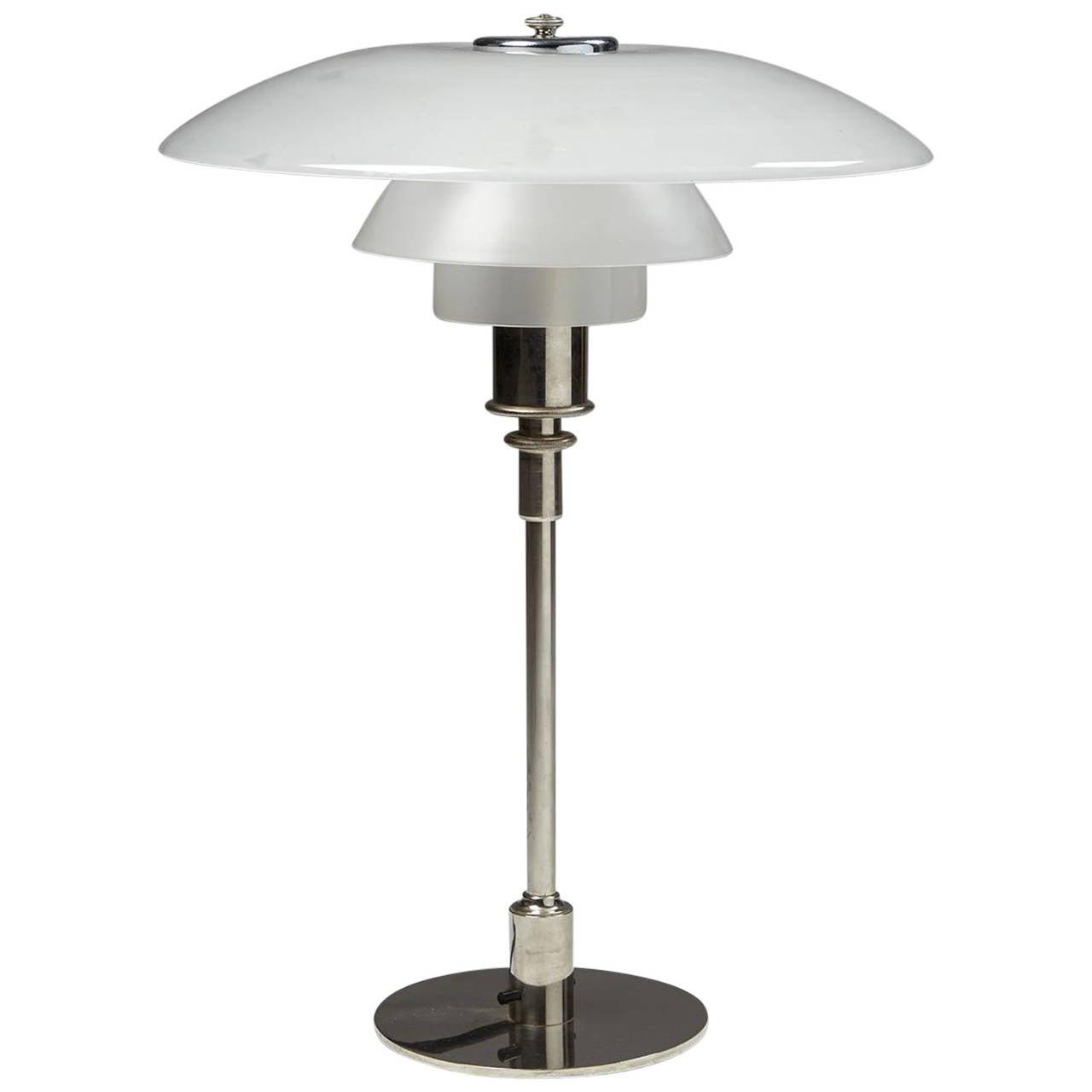 table lamp 4 3 designed by poul henningsen for louis poulsen denmark 1926 for sale at 1stdibs. Black Bedroom Furniture Sets. Home Design Ideas