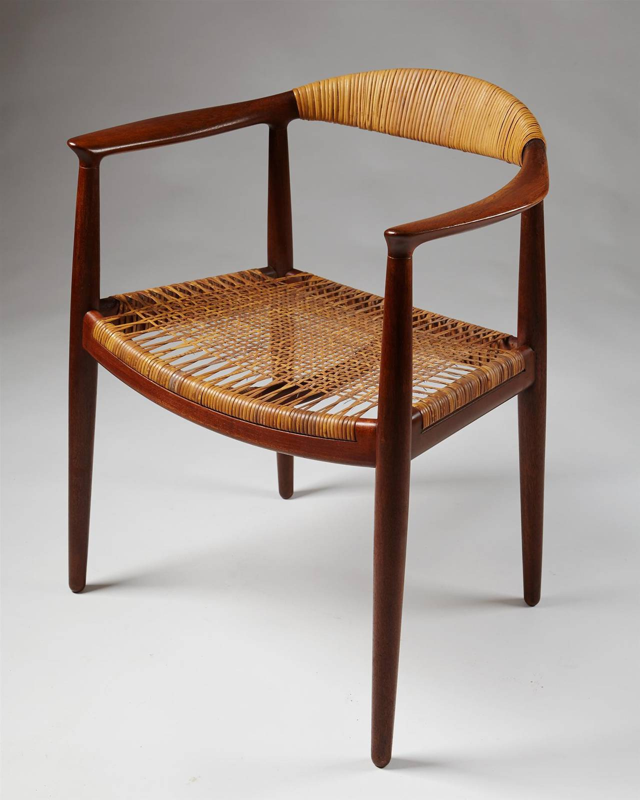 "Armchair ""The Chair"" Designed by Hans Wegner for Johannes Hansen"