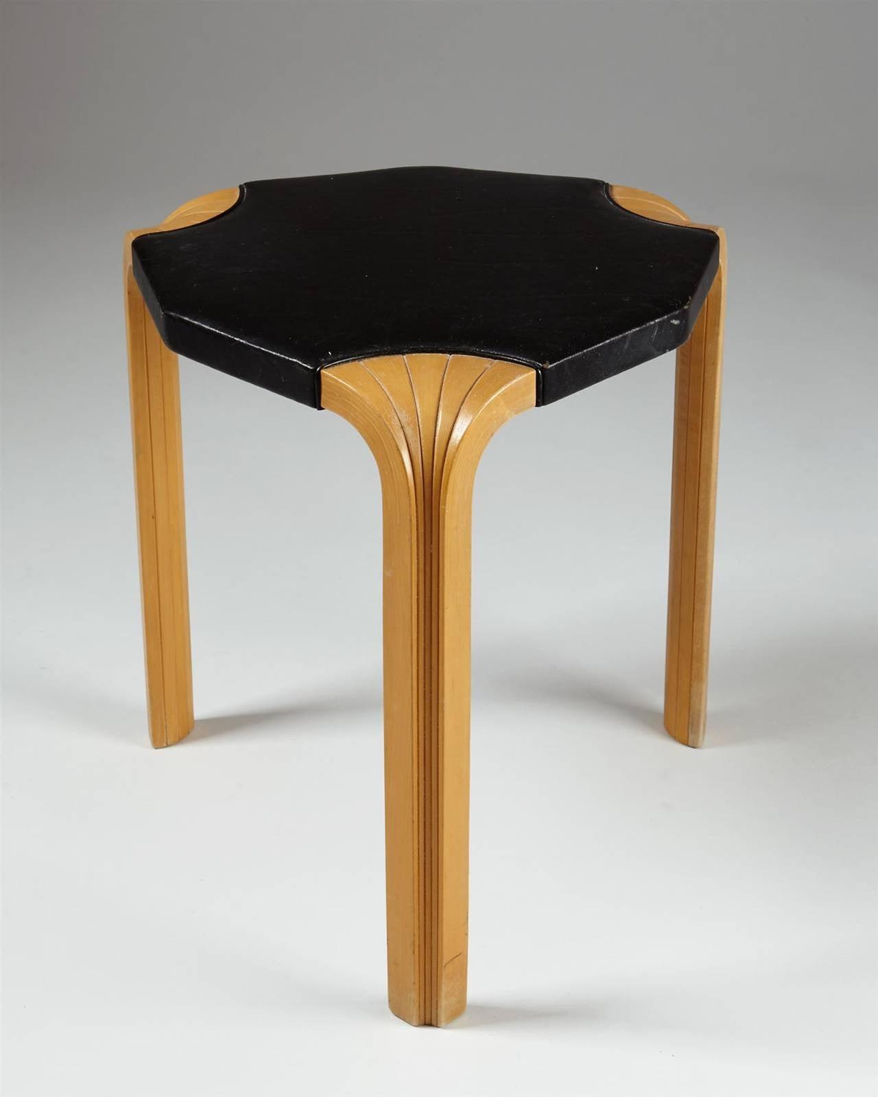 Fan Leg Stools Designed By Alvar Aalto For Artek For Sale