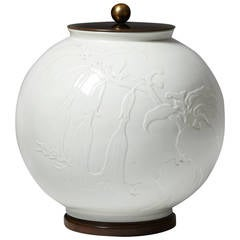Lidded Urn for Royal Copenhagen, Denmark, 1938