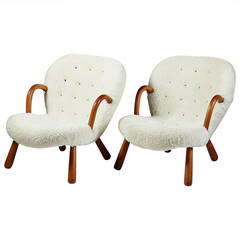 Pair of armchairs designed by Philip Arctander, Denmark. 1940's.