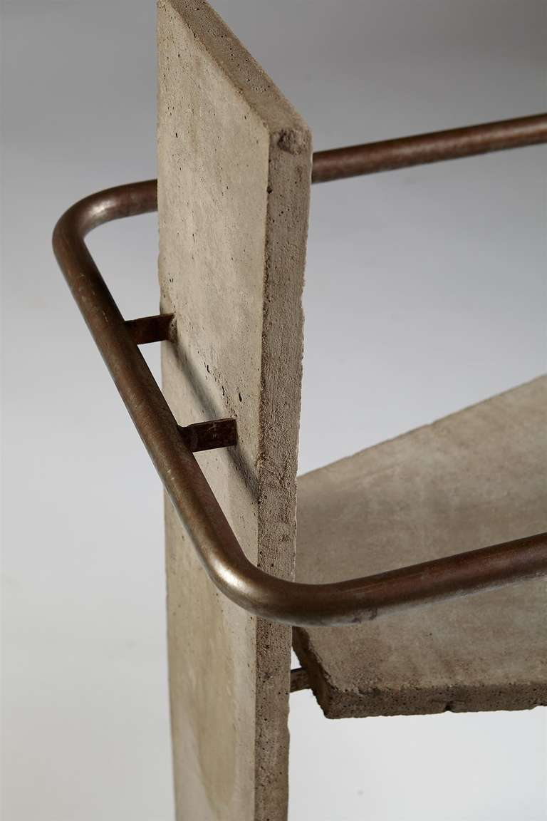 Cement Arm Chairs ~ Concrete armchair designed by jonas bohlin for källemo
