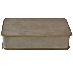Svenskt Tenn pewter and brass cigarette box, 1950