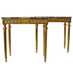 Important Pair of Gustavian Console Tables by Per Ljung, Stockholm circa 1790