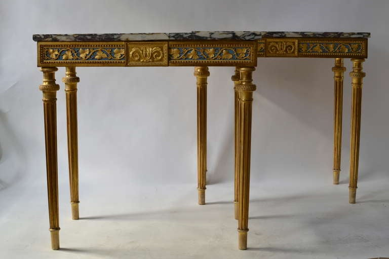 important pair of gustavian console tables by per ljung stockholm circa 1790 at 1stdibs. Black Bedroom Furniture Sets. Home Design Ideas