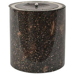 Large Swedish Lidded Porphyry Vase