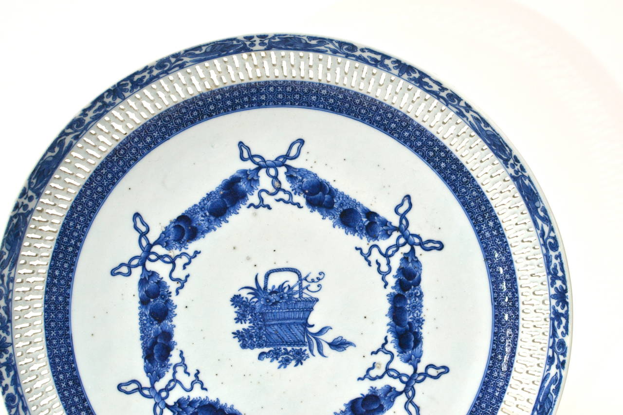 Blue And White Plates pair of chinese blue and white plates, late 18th century or circa