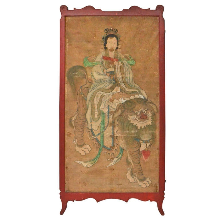 Chinese painting on paper at 1stdibs for Chinese art furniture