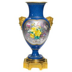 Gilt Bronze-Mounted Sèvres Vase, Dated 1871