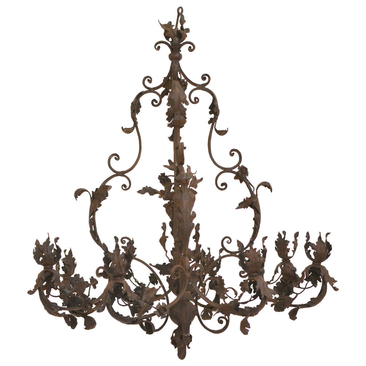 Wrought iron rococo chandelier 18th century possibly german at 1stdibs wrought iron rococo chandelier 18th century possibly german for sale mozeypictures Gallery