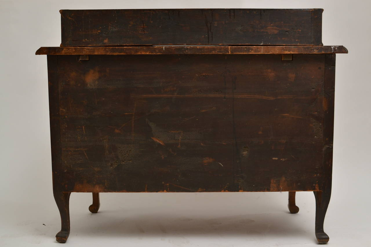 18th Century Swedish Barock Chest of Drawers Signed by Johan Furloh, Stockholm For Sale