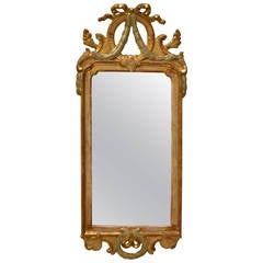 Swedish Gustavian Giltwood Mirror Signed by Johan Åkerblad, circa 1776