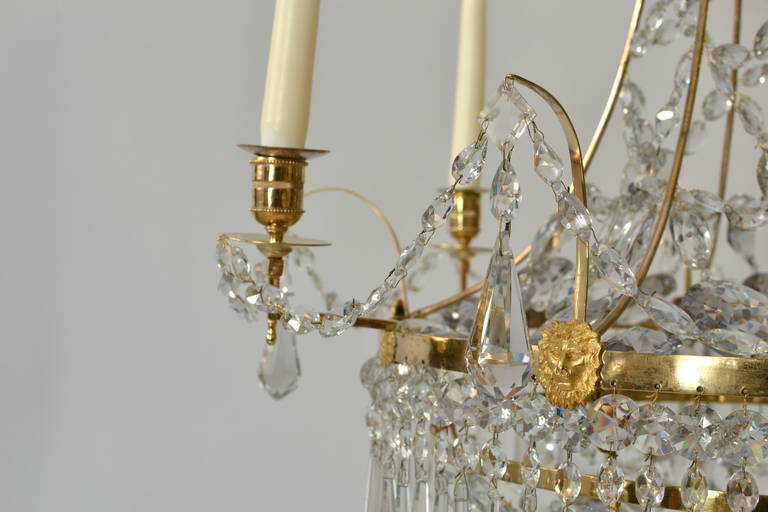 Gustavian Chandelier, circa 1790-1800 In Good Condition For Sale In Stockholm, SE