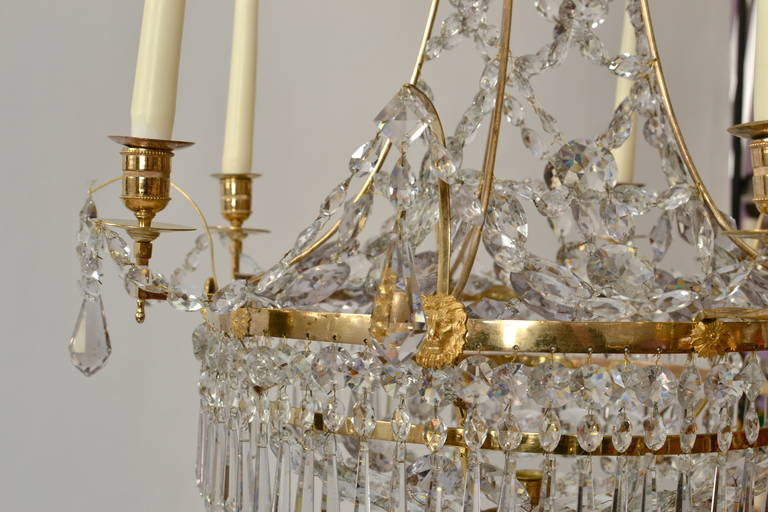 18th Century and Earlier Gustavian Chandelier, circa 1790-1800 For Sale
