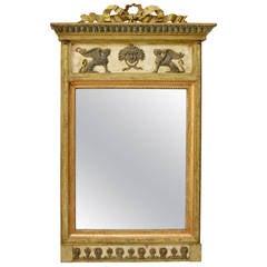 Swedish Empire Mirror with Original Mirror Glass, circa 1810-1820
