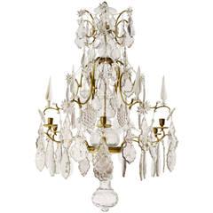 Important 18th Century Six-Light Swedish Rococo Chandelier