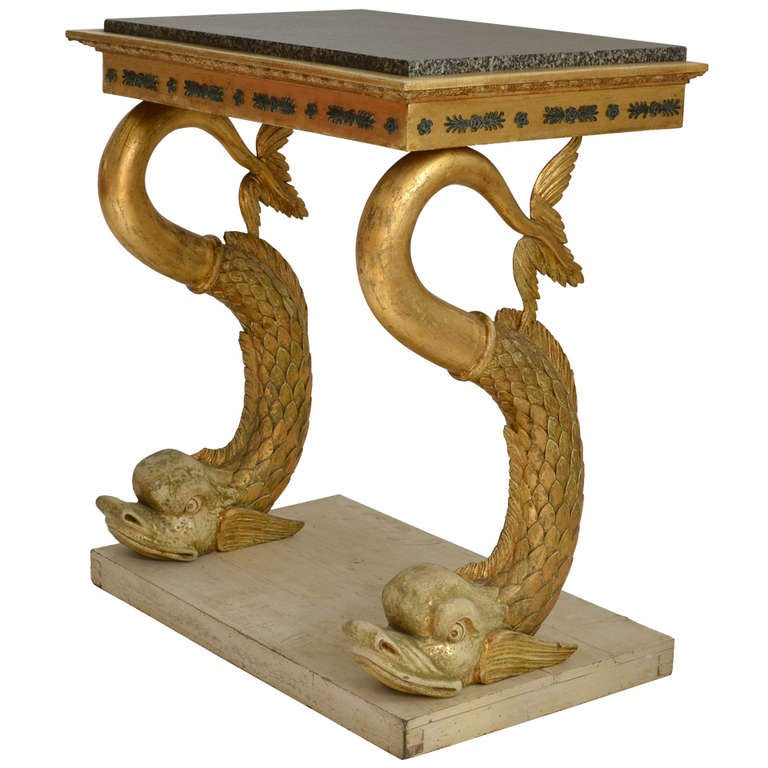 Swedish Empire Console Table with Marble Top, Gothenburg circa 1820 1