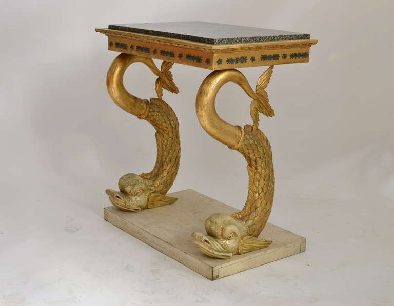 Swedish Empire Console Table with Marble Top, Gothenburg circa 1820 2