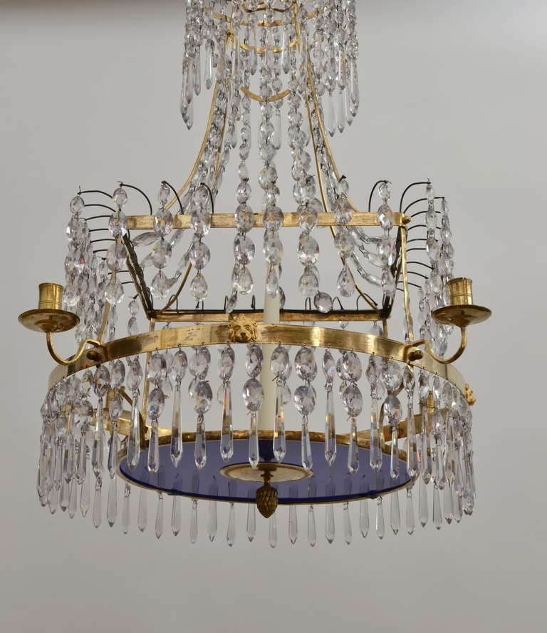 Swedish Gustavian Chandelier, Stockholm, circa 1810 In Good Condition For Sale In Stockholm, SE