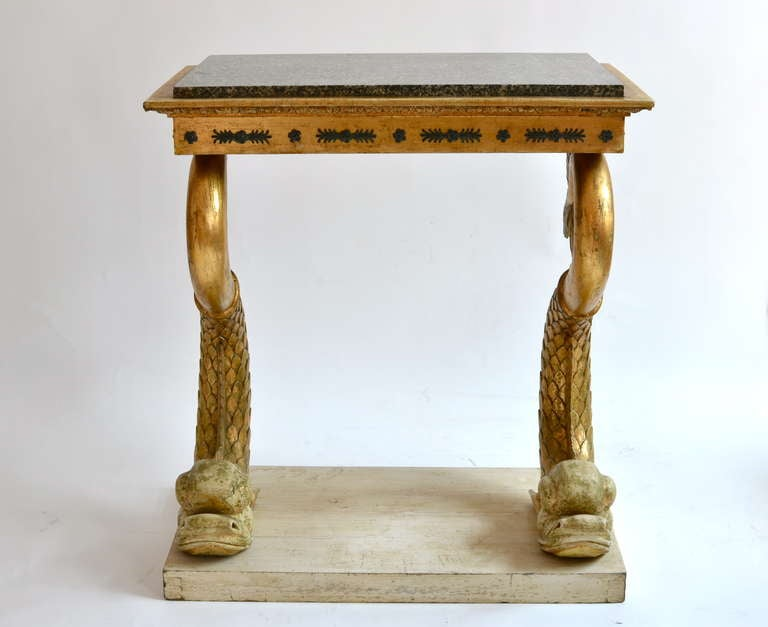 Swedish Empire Console Table with Marble Top, Gothenburg circa 1820 3