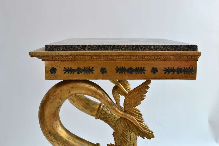 Swedish Empire Console Table with Marble Top, Gothenburg circa 1820 5