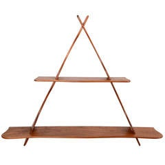 Wall shelf, walnut, after Peder Moos
