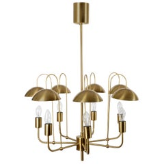 Chandeliers in brass, by Hans Agne Jakobsson, Markaryd, 1950/60´s