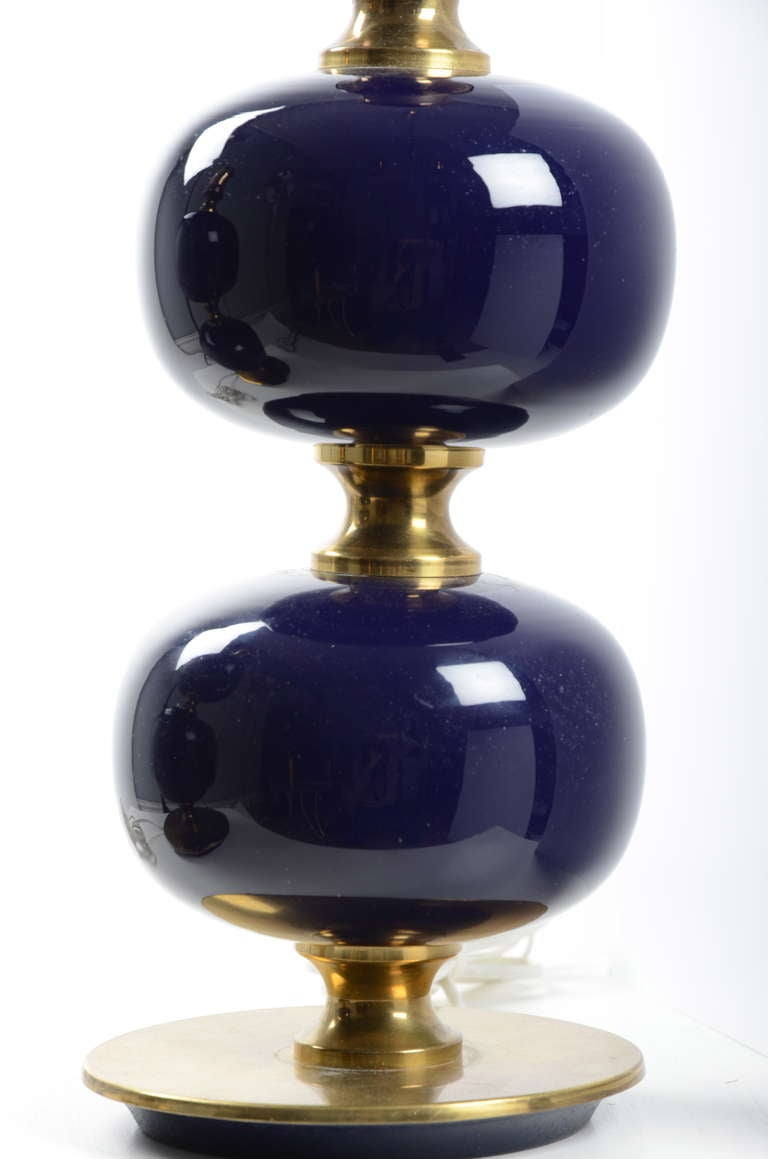 this a pair of table lamps swedish 1960 39 s dark blue purple color is. Black Bedroom Furniture Sets. Home Design Ideas
