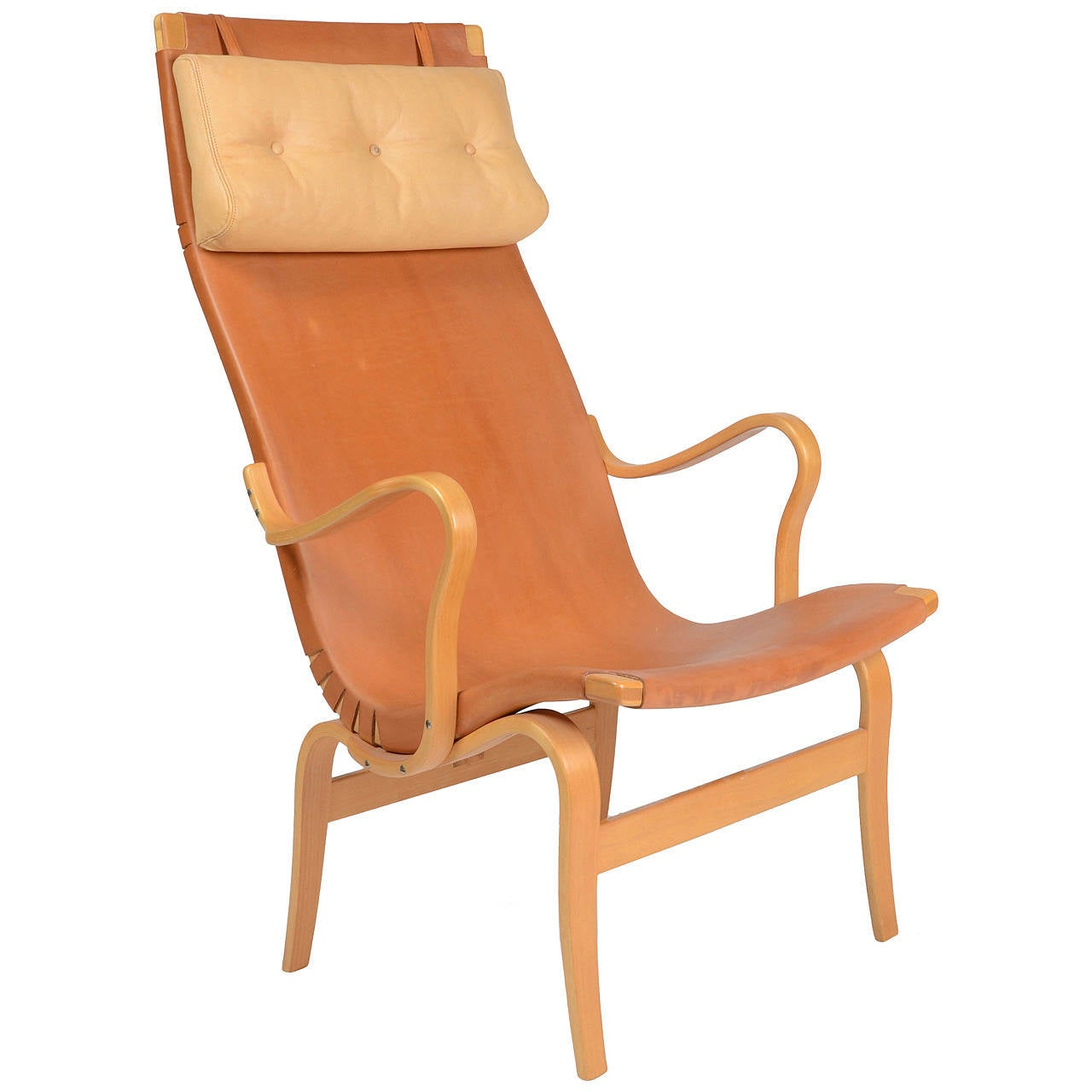 Chair, high back Eva, by Bruno Mathsson for Karl Mathsson, Sweden For Sale at 1stdibs