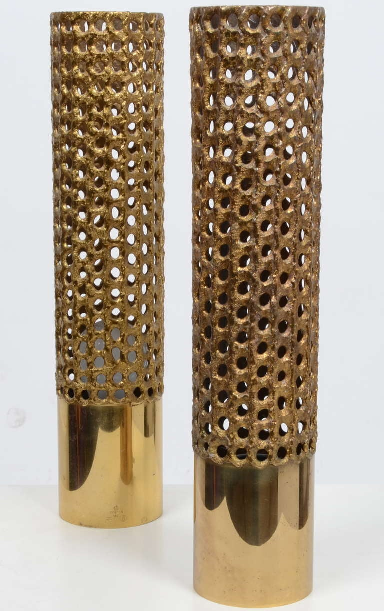 Swedish Pierre Forssell Table Lamps in Brass for Skultuna, Sweden For Sale