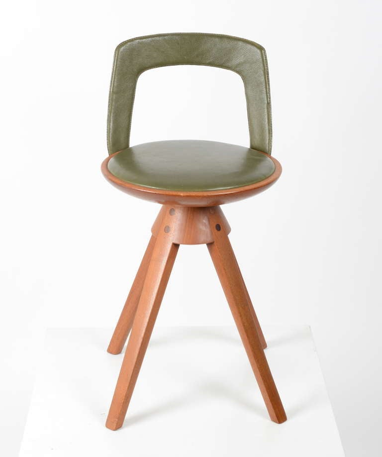 Scandinavian Modern Stool by Tove & Edvard Kindt-Larsen manufactured by Thorald Madsens, Denmark