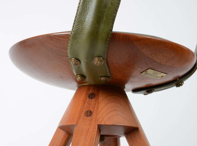 Mid-20th Century Stool by Tove & Edvard Kindt-Larsen manufactured by Thorald Madsens, Denmark