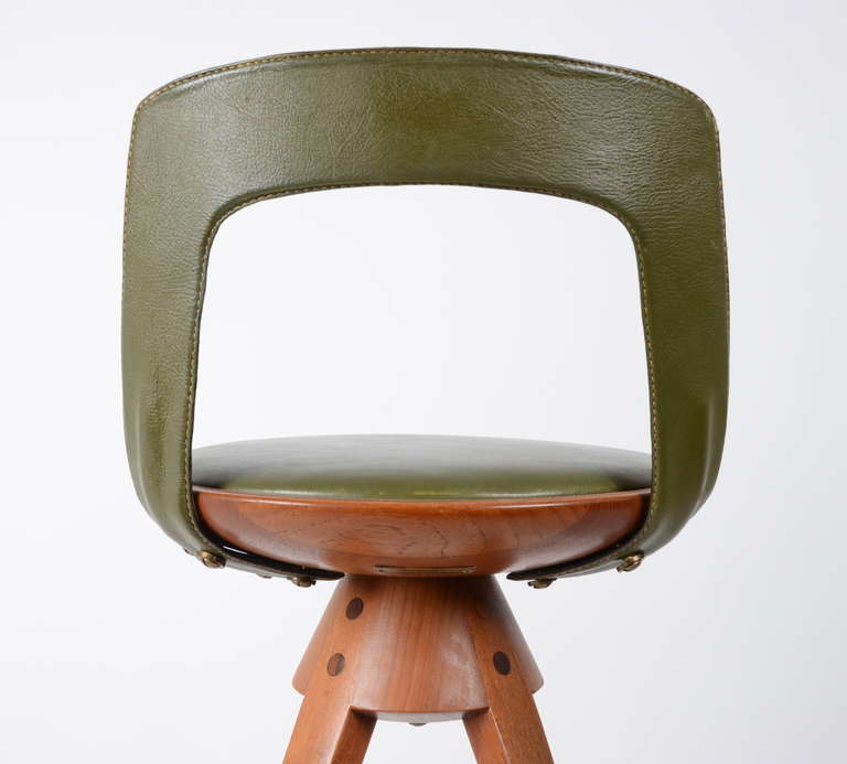 Stool by Tove & Edvard Kindt-Larsen manufactured by Thorald Madsens, Denmark 3