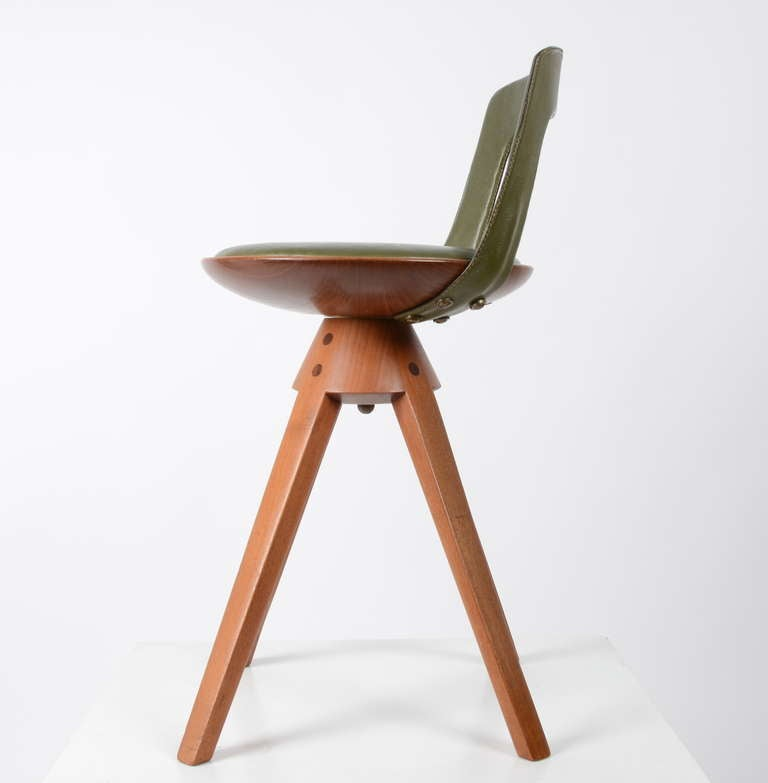 Danish Stool by Tove & Edvard Kindt-Larsen manufactured by Thorald Madsens, Denmark