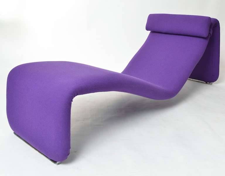 Chaise longue designed by olivier mourgue france 1960 39 s for Chaise longue france