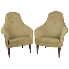 Pair of Large Adam Chairs by Kerstin Hörlin Holmquist for Nordiska Kompaniet