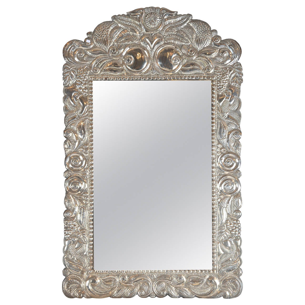 Mirror in silver frame south america 1920 1930 at 1stdibs for Silver framed mirror