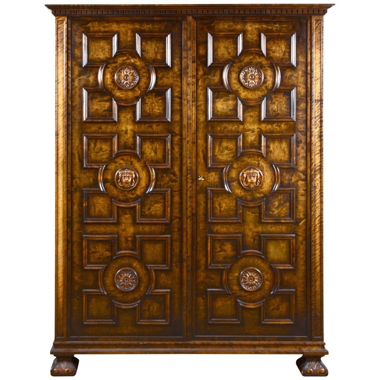"Axel Einar Hjorth, Cabinet ""Roma"" in Stained Birch, Bodafors, Sweden, 1920s For Sale"